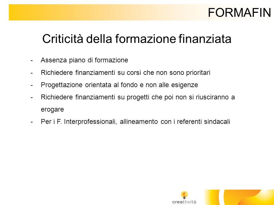 Criticità della formazione finanziata