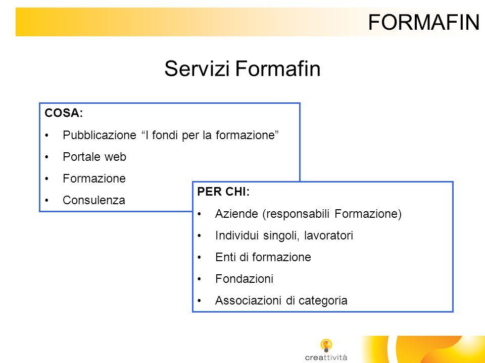 FORMAFIN Servizi Formafin COSA: