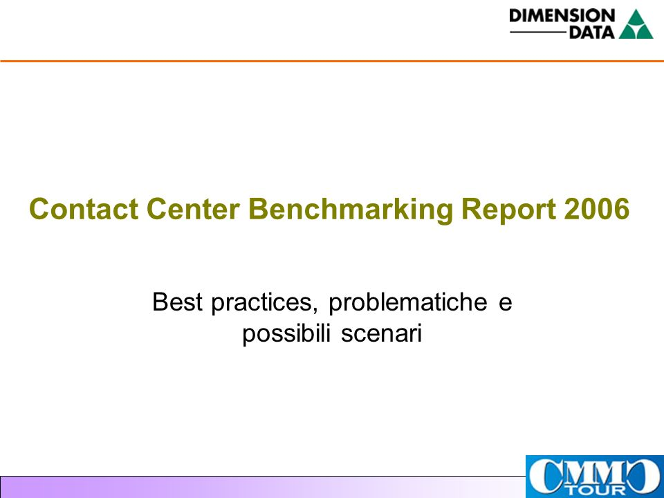 Contact Center Benchmarking Report 2006