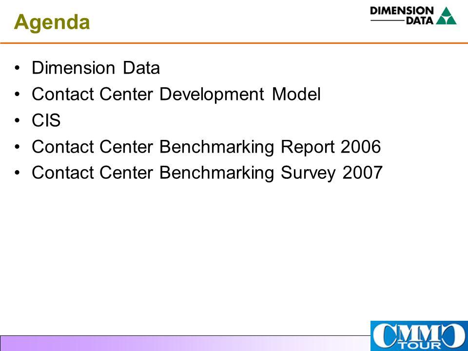 Agenda Dimension Data Contact Center Development Model CIS