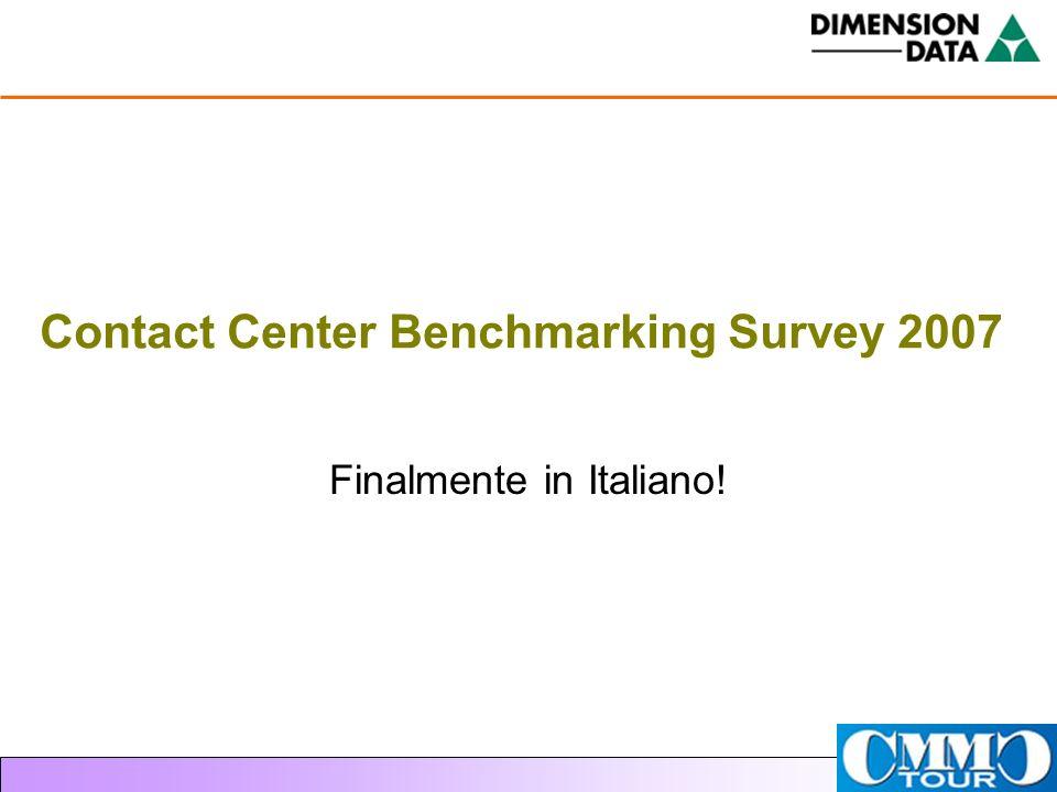 Contact Center Benchmarking Survey 2007