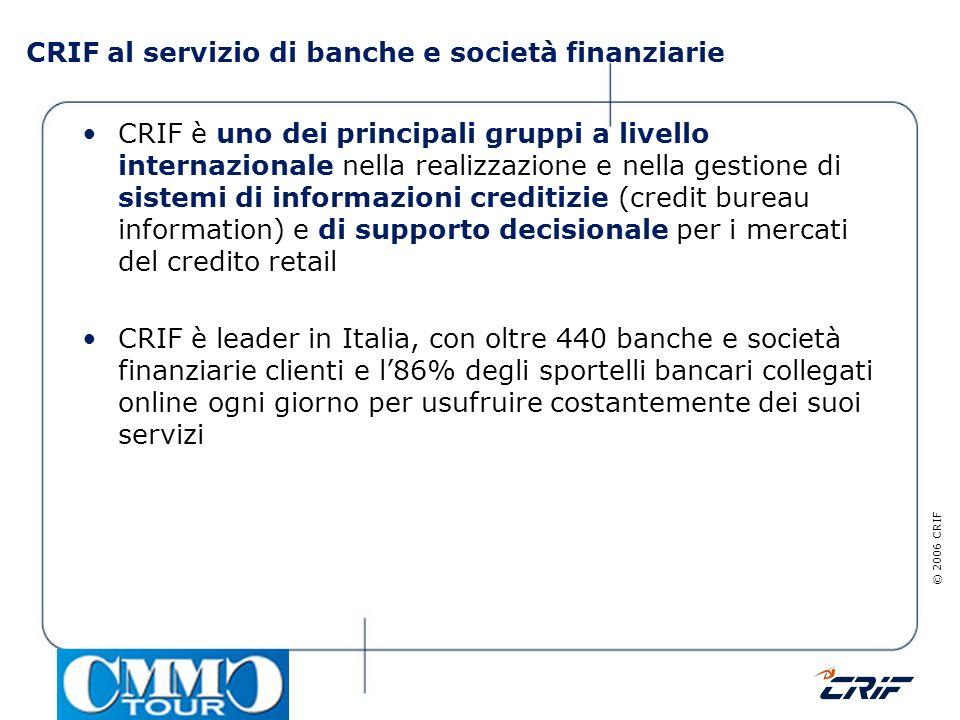 CRIF al servizio di banche e società finanziarie
