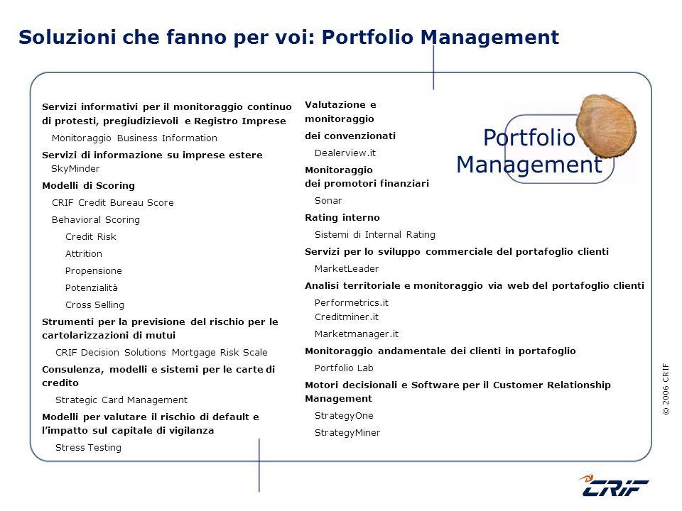 Soluzioni che fanno per voi: Portfolio Management