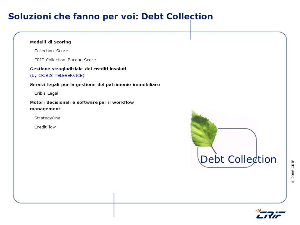 Soluzioni che fanno per voi: Debt Collection