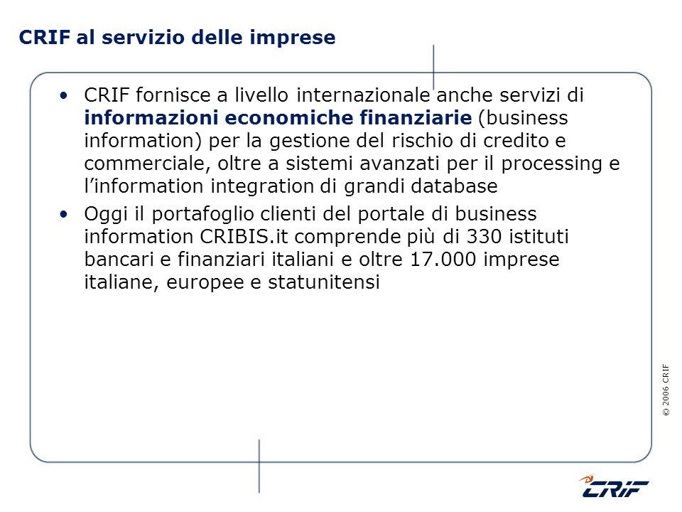 CRIF al servizio delle imprese