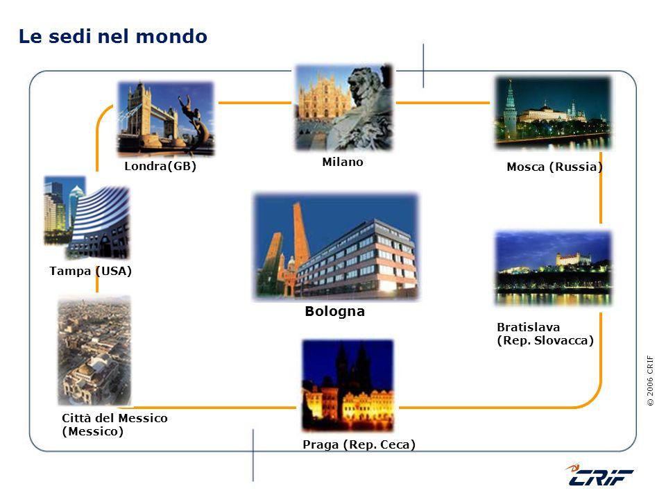 Le sedi nel mondo Bologna Milano Londra(GB) Mosca (Russia) Tampa (USA)