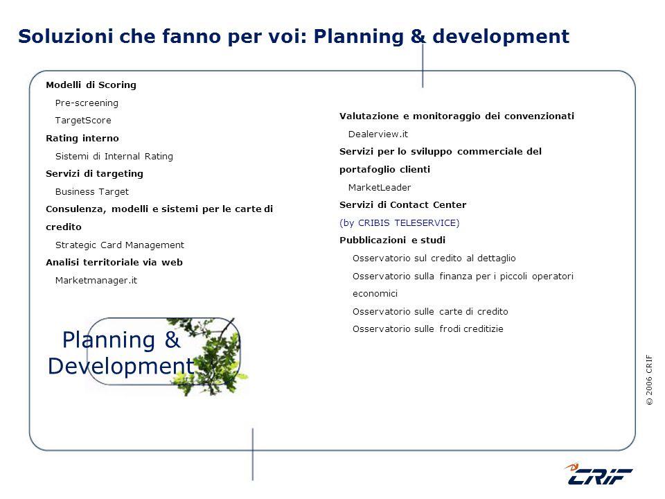 Soluzioni che fanno per voi: Planning & development