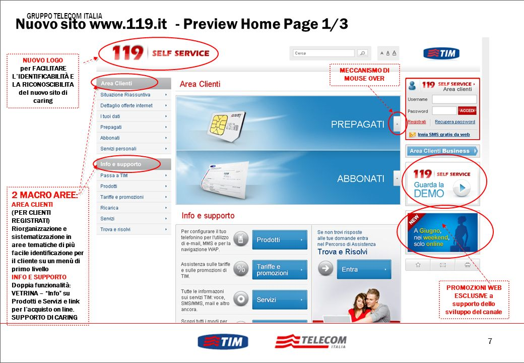 Nuovo sito www.119.it - Preview Home Page 1/3