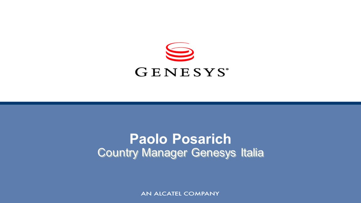 Country Manager Genesys Italia