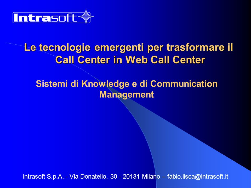 Sistemi di Knowledge e di Communication Management