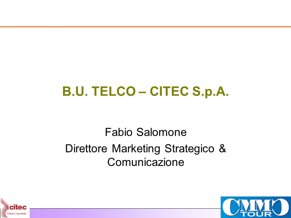 Fabio Salomone Direttore Marketing Strategico & Comunicazione