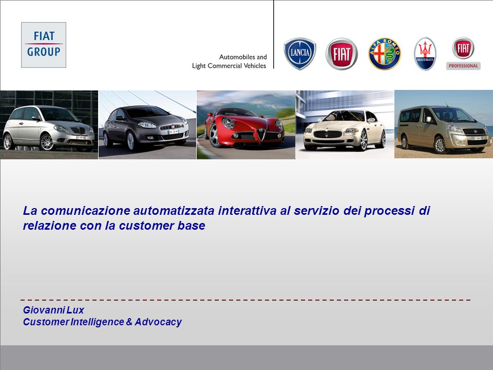 Giovanni Lux Customer Intelligence & Advocacy
