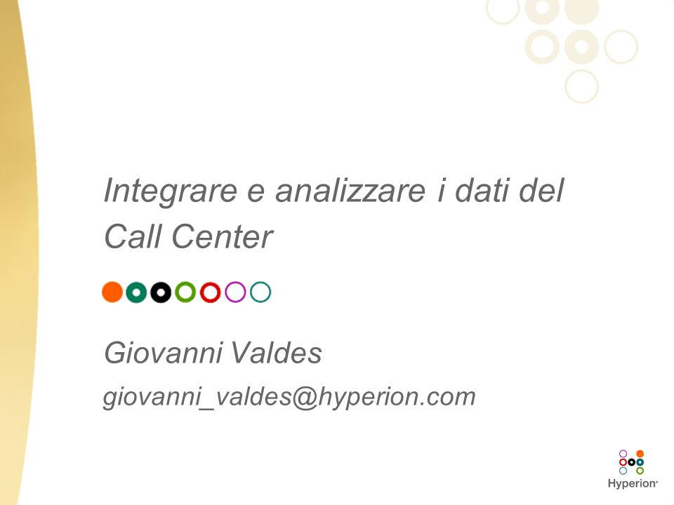 Integrare e analizzare i dati del Call Center