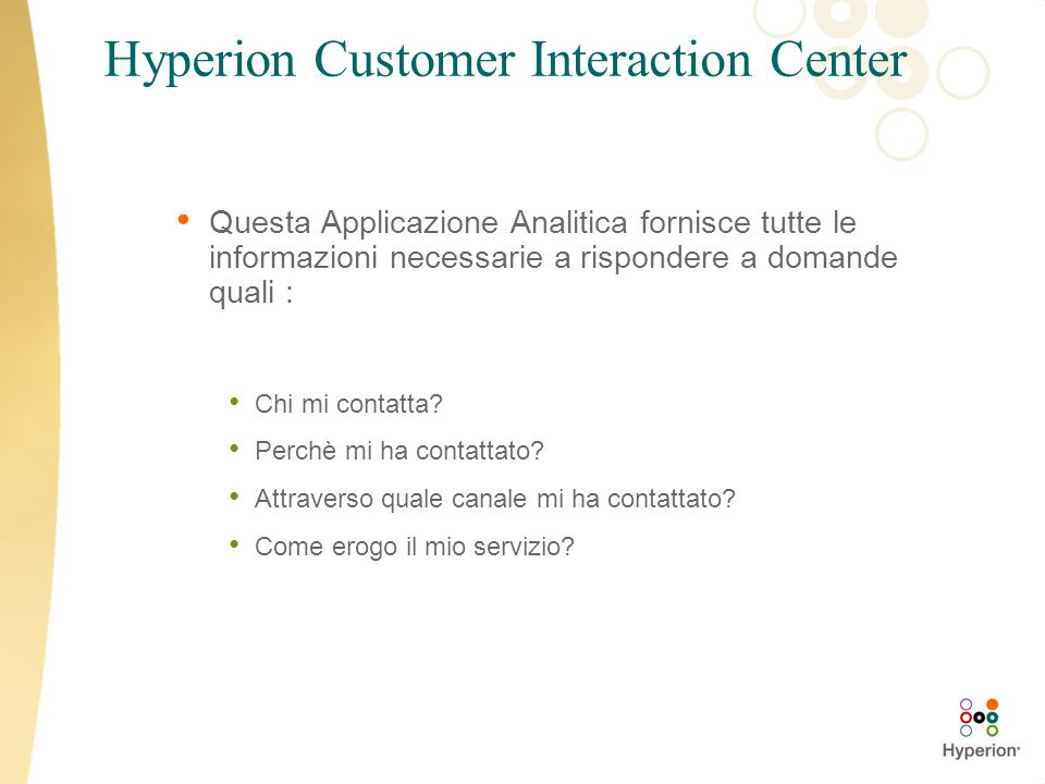 Hyperion Customer Interaction Center