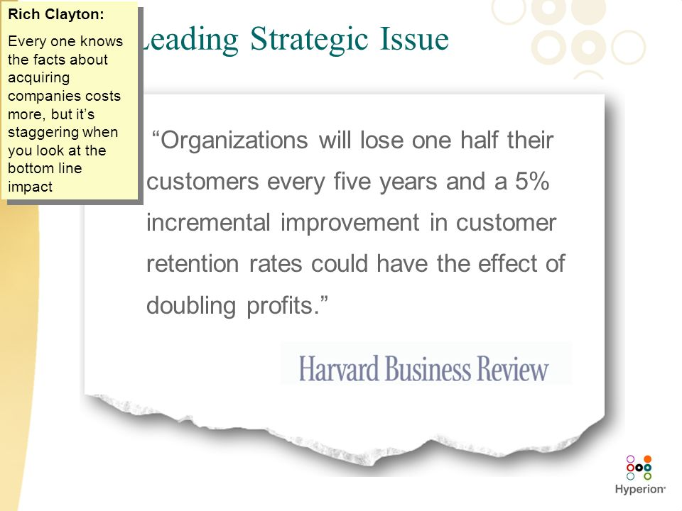 The Leading Strategic Issue
