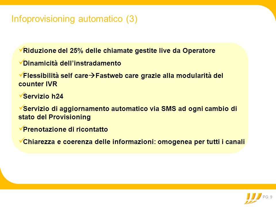 Infoprovisioning automatico (3)