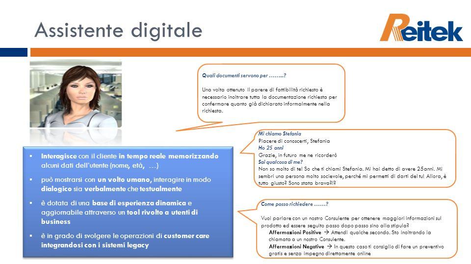Assistente digitale Quali documenti servono per ……..