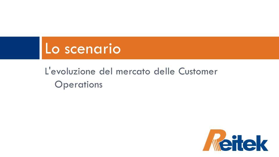 Lo scenario L evoluzione del mercato delle Customer Operations