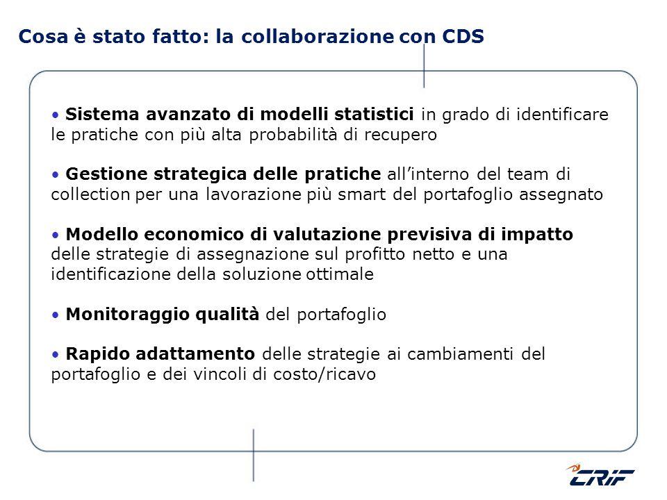 Cosa è stato fatto: la collaborazione con CDS