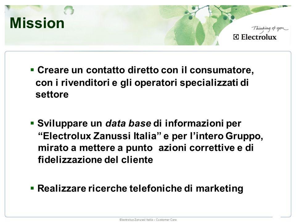 Mission Creare un contatto diretto con il consumatore,