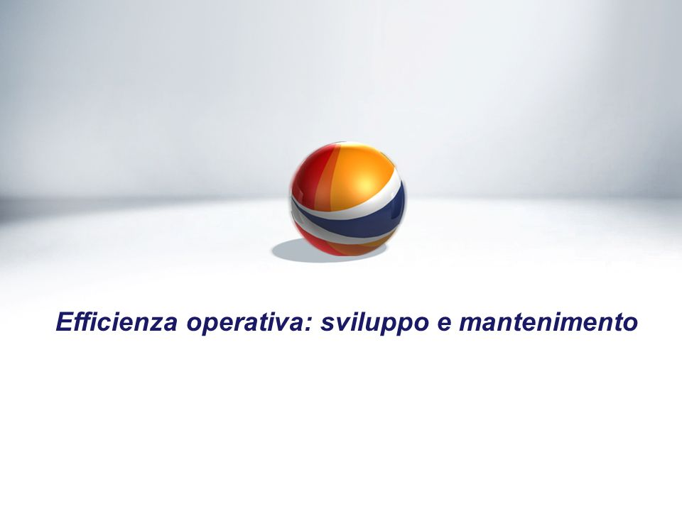 Efficienza operativa: sviluppo e mantenimento
