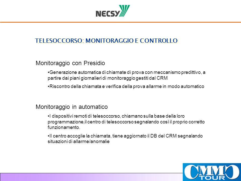TELESOCCORSO: MONITORAGGIO E CONTROLLO