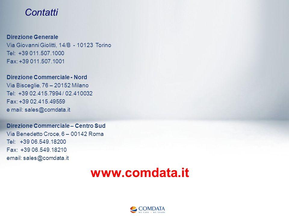 www.comdata.it Contatti Direzione Generale