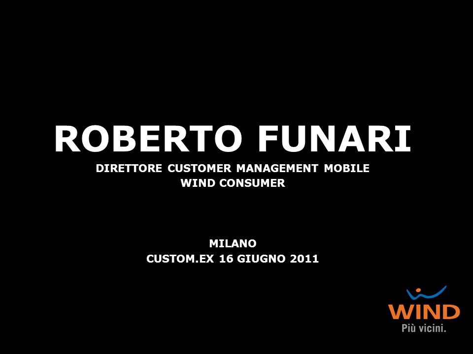 DIRETTORE CUSTOMER MANAGEMENT MOBILE