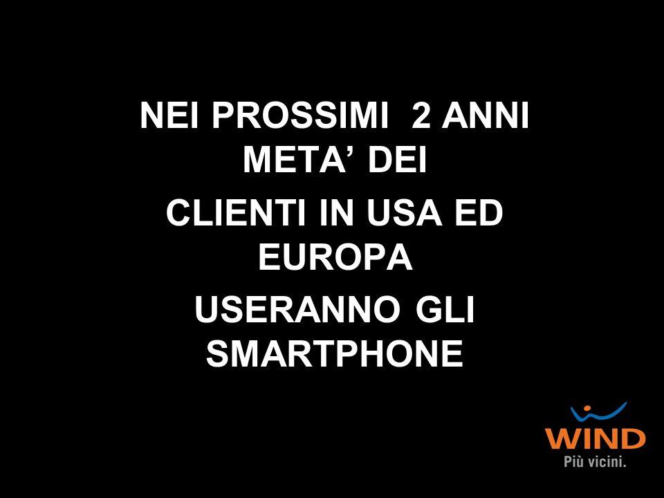 NEI PROSSIMI 2 ANNI META' DEI CLIENTI IN USA ED EUROPA