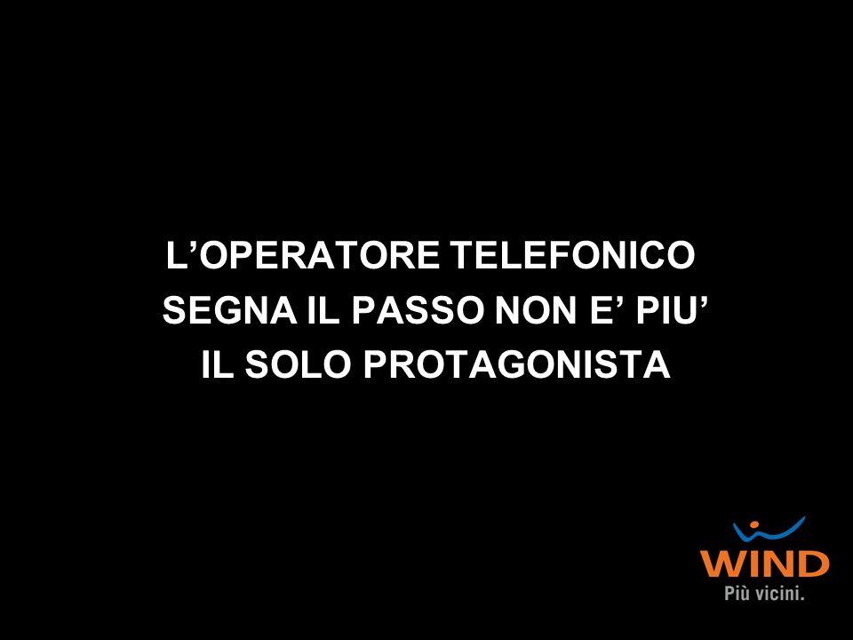 L'OPERATORE TELEFONICO SEGNA IL PASSO NON E' PIU' IL SOLO PROTAGONISTA