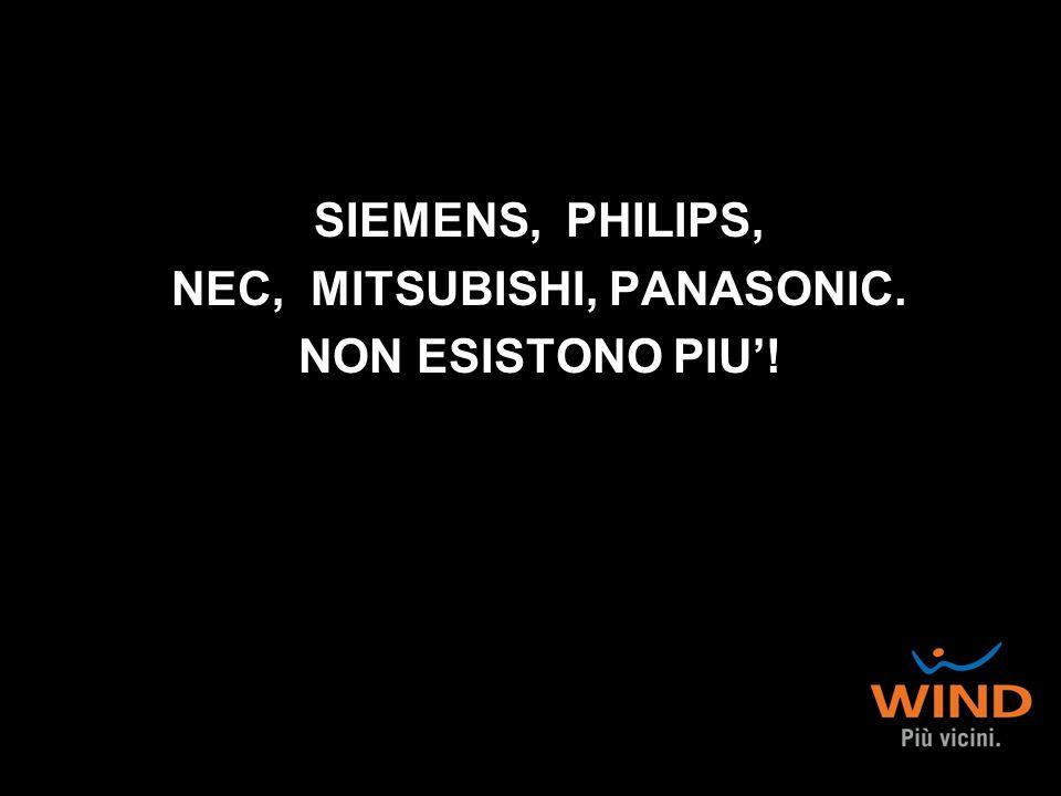 SIEMENS, PHILIPS, NEC, MITSUBISHI, PANASONIC. NON ESISTONO PIU'!