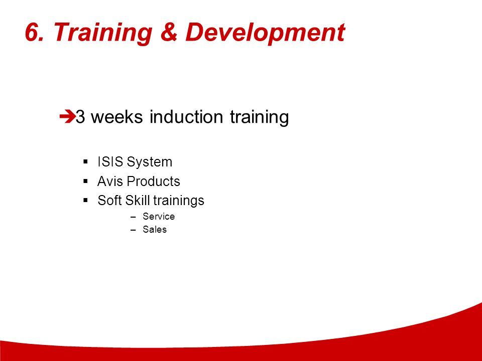 6. Training & Development