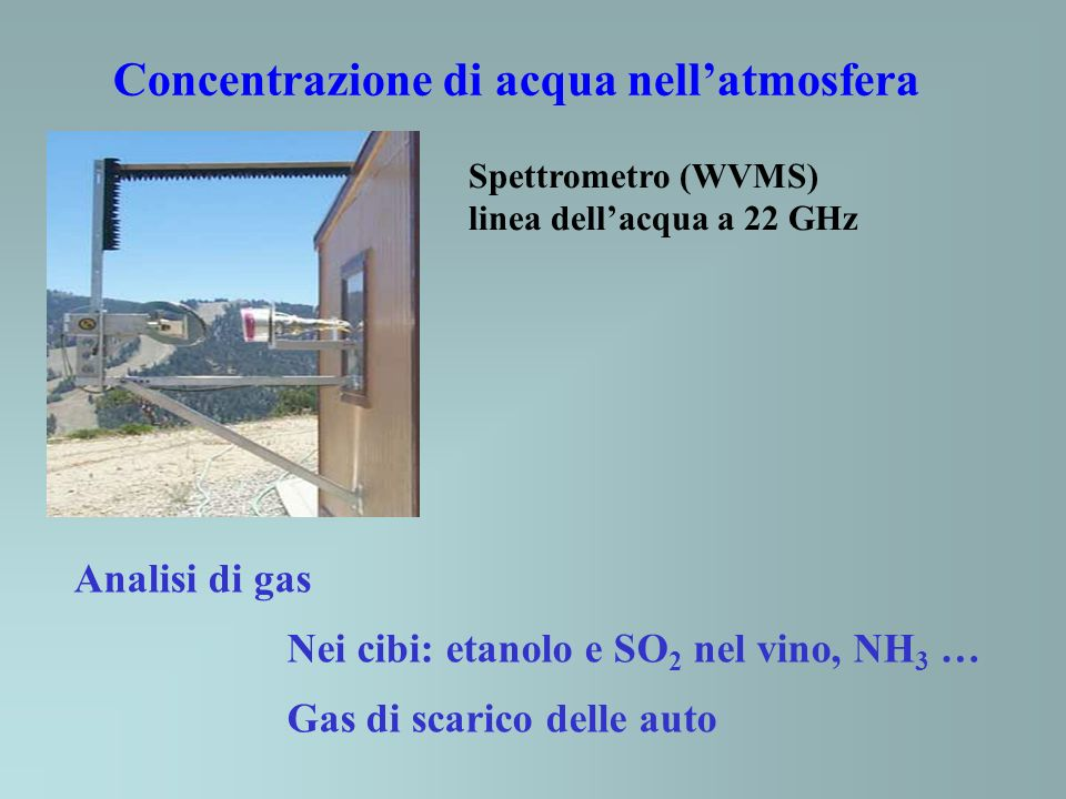 Concentrazione di acqua nell'atmosfera