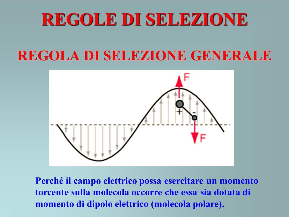 REGOLE DI SELEZIONE REGOLA DI SELEZIONE GENERALE