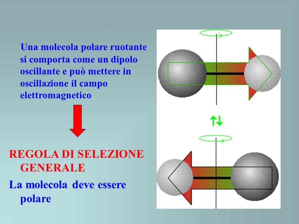 Una molecola polare ruotante si comporta come un dipolo oscillante e può mettere in oscillazione il campo elettromagnetico