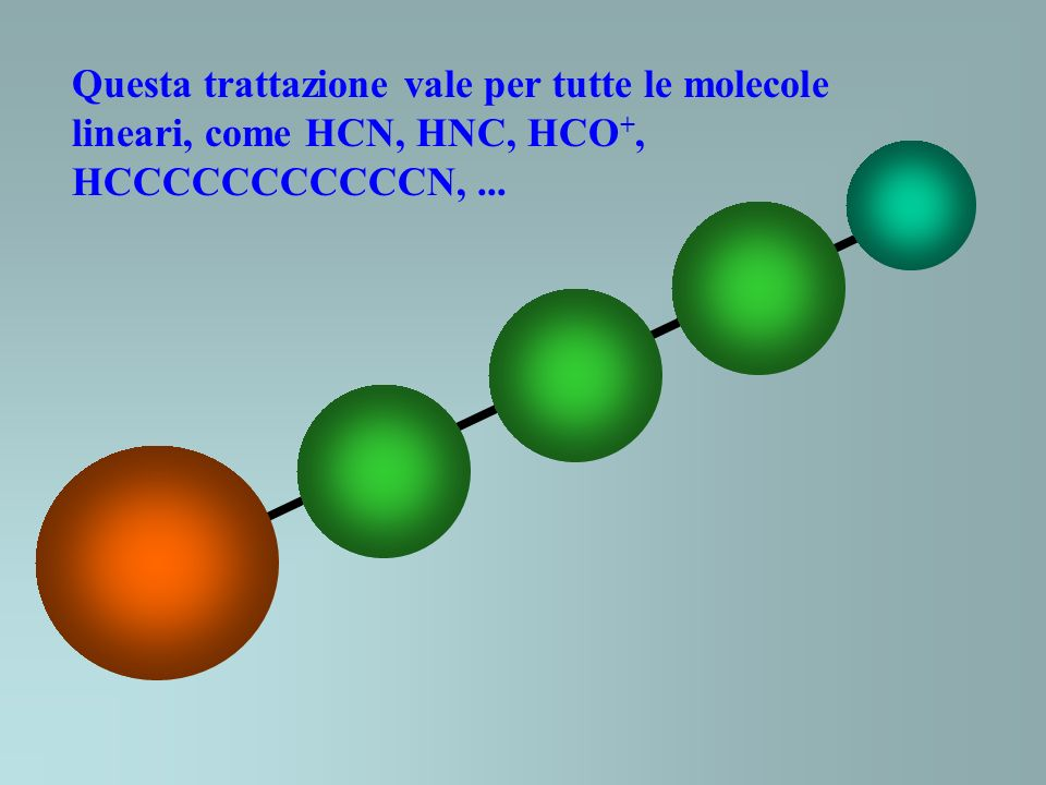 Questa trattazione vale per tutte le molecole lineari, come HCN, HNC, HCO+,