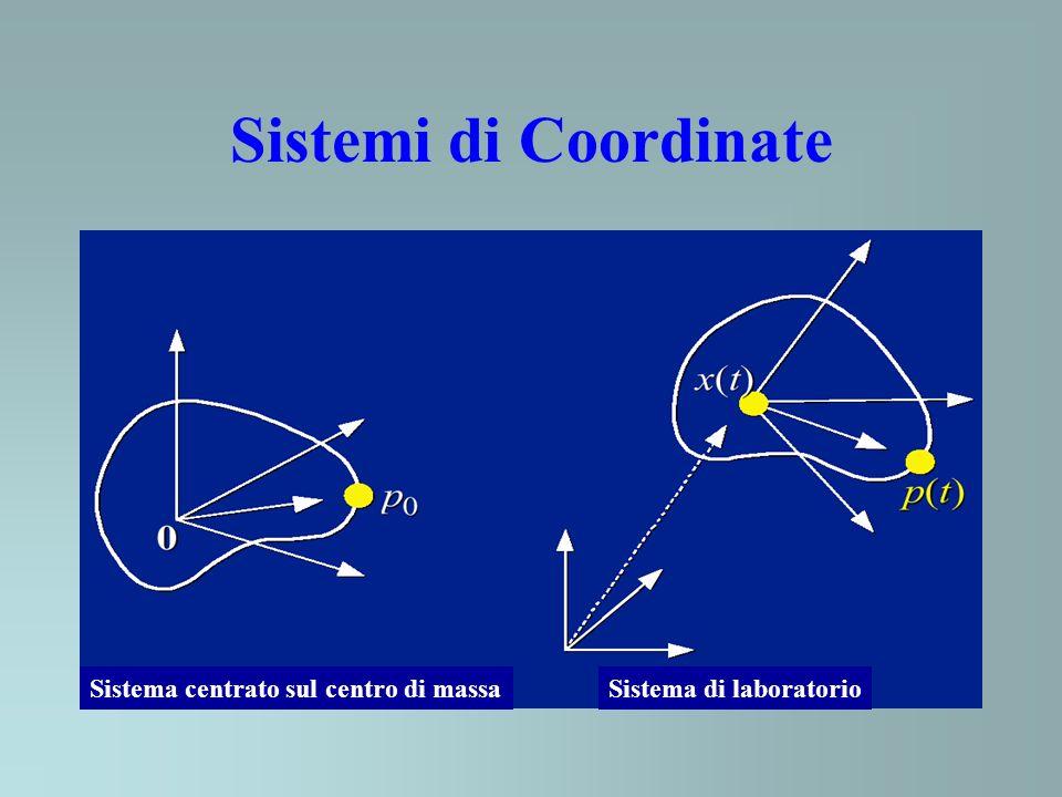 Sistemi di Coordinate Sistema centrato sul centro di massa