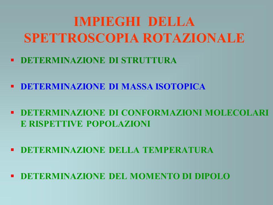 IMPIEGHI DELLA SPETTROSCOPIA ROTAZIONALE