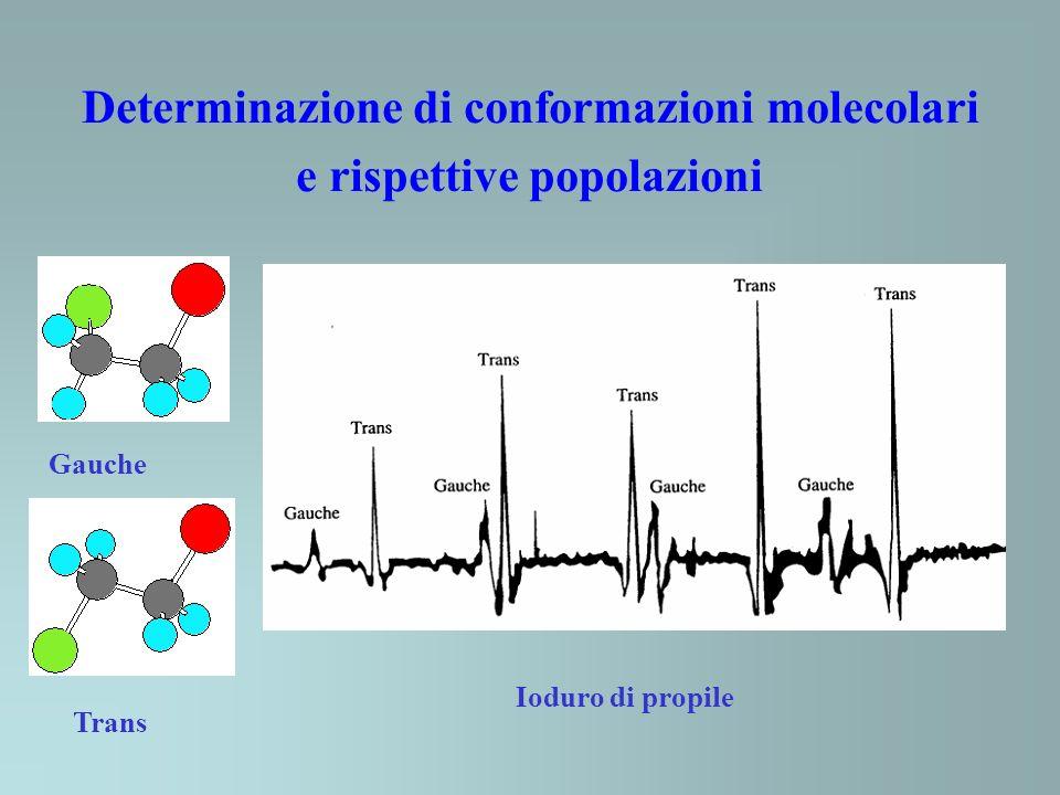 Determinazione di conformazioni molecolari e rispettive popolazioni
