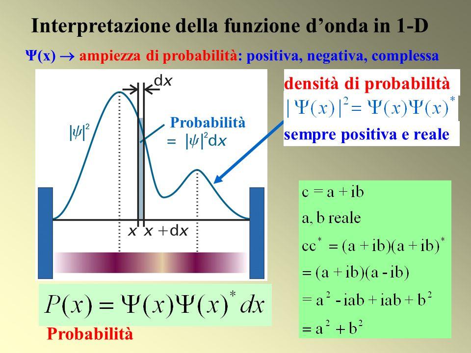 Interpretazione della funzione d'onda in 1-D
