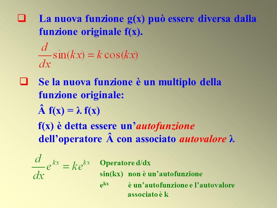 Se la nuova funzione è un multiplo della funzione originale: