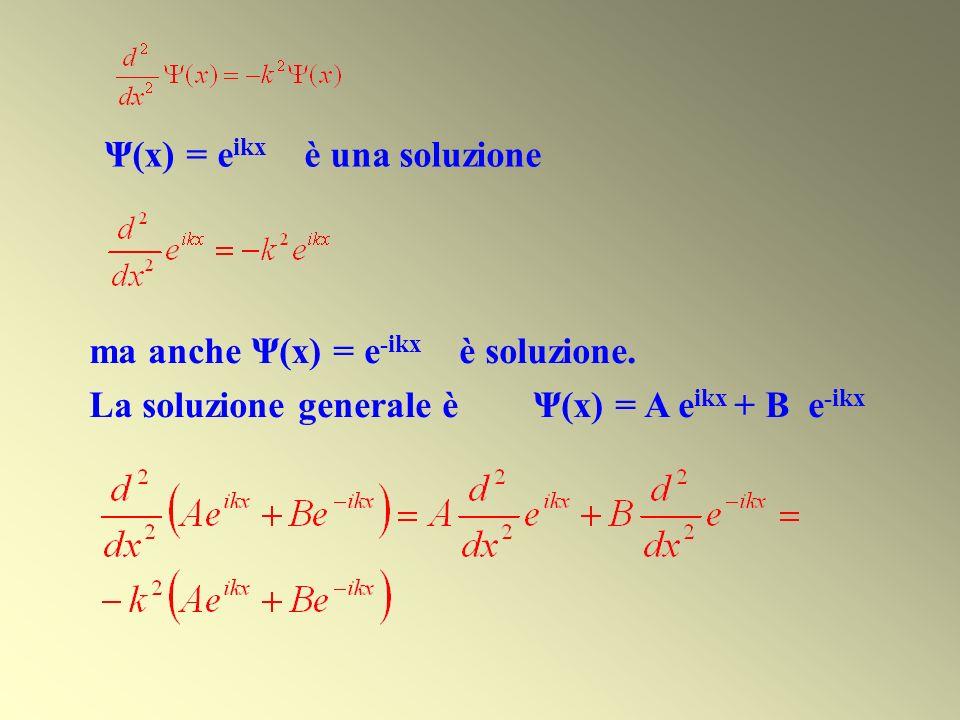 Ψ(x) = eikx è una soluzione