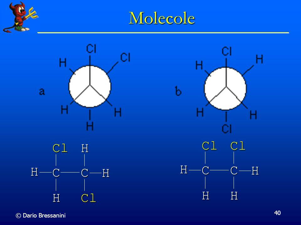 Molecole C Cl H C Cl H © Dario Bressanini