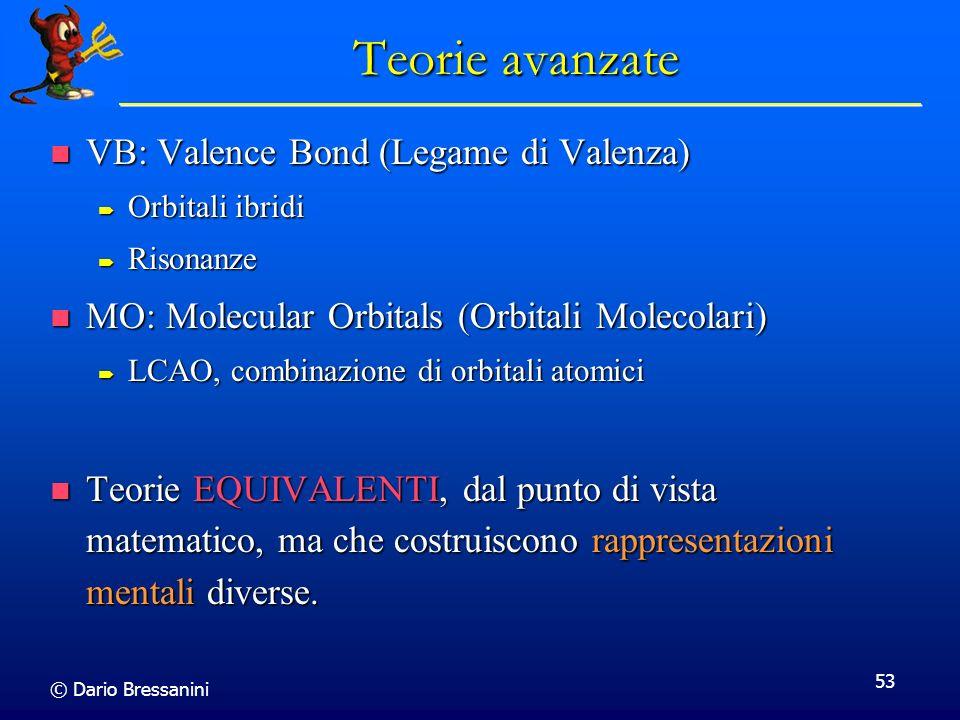 Teorie avanzate VB: Valence Bond (Legame di Valenza)