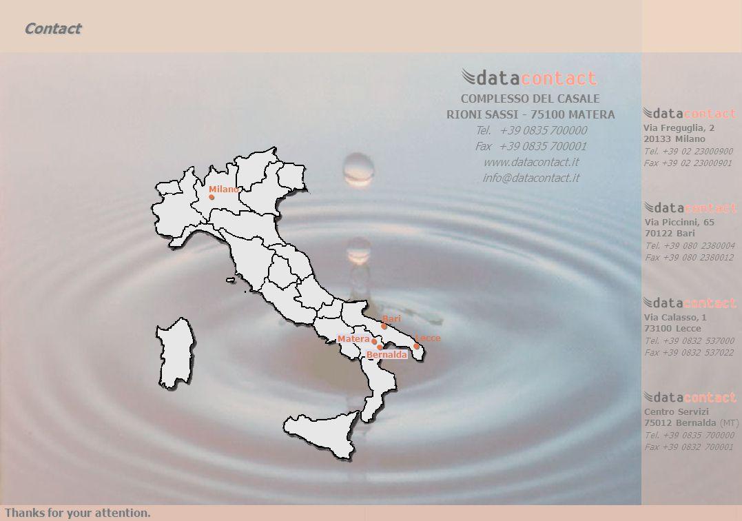 Contact COMPLESSO DEL CASALE RIONI SASSI - 75100 MATERA