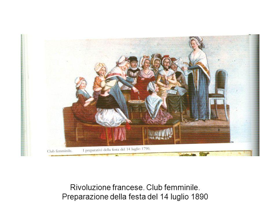 Rivoluzione francese. Club femminile