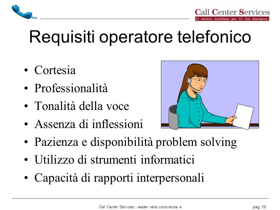 Requisiti operatore telefonico