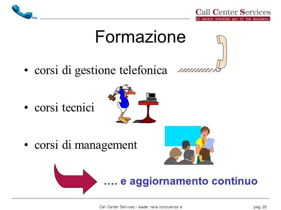 Formazione corsi di gestione telefonica corsi tecnici