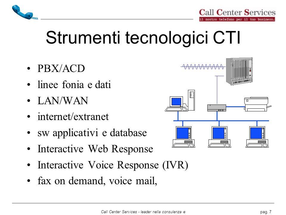 Strumenti tecnologici CTI