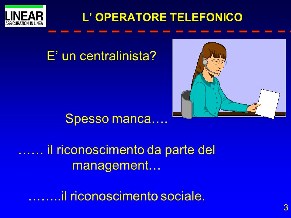 L' OPERATORE TELEFONICO